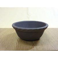 サツキ鉢(ナワブチ)/ウ泥/4号