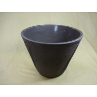 10号 ラフポットメダカ鉢(コゲ茶)