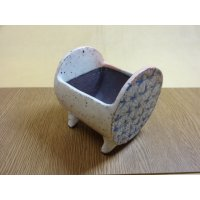車紋つづみ鉢/3.5号/粉引