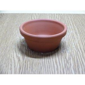 画像1: 朱温鉢/浅/2号