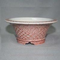 九谷焼(瑛生)赤絵小紋4号丸鉢